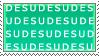 DESU spam stamp by Tobi--Weasel