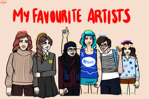 My favourite artists 2017 by JimTigerLily