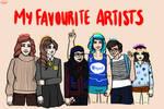 My favourite artists 2017 by JimTigerLily