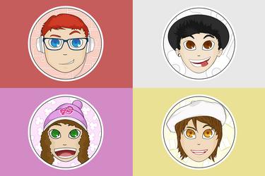 Yogscast inspired portraits by WraShadow