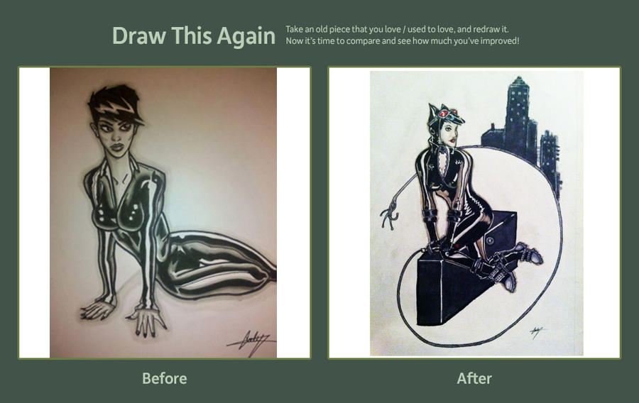 Draw Again Catwoman 2 by CodyCurtin