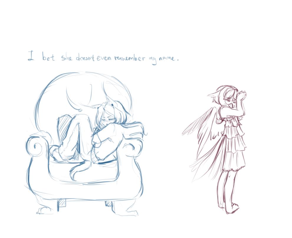 -Sketch- I bet by Kiara-the-kitten