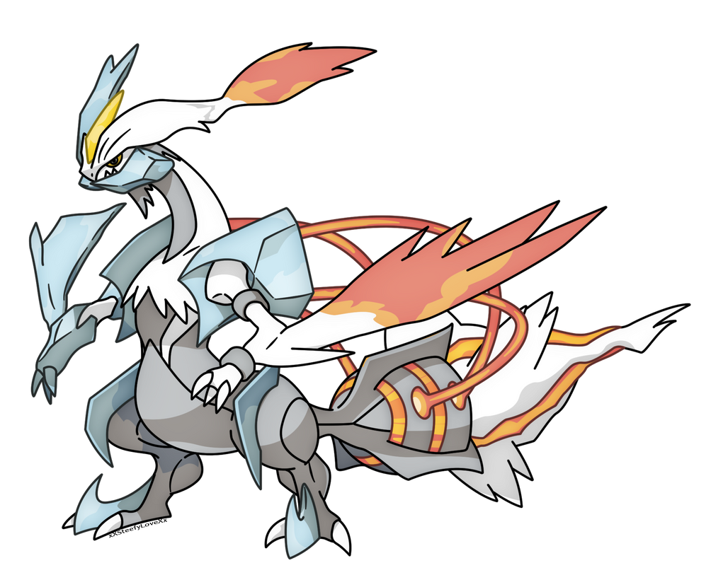 White Kyurem- Pokemon White 2 by xXSteefyLoveXx on DeviantArt