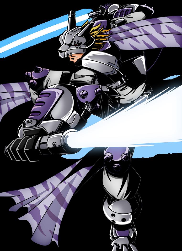 Lobomon-Wolfmon (Jintrix) by xXSteefyLoveXx