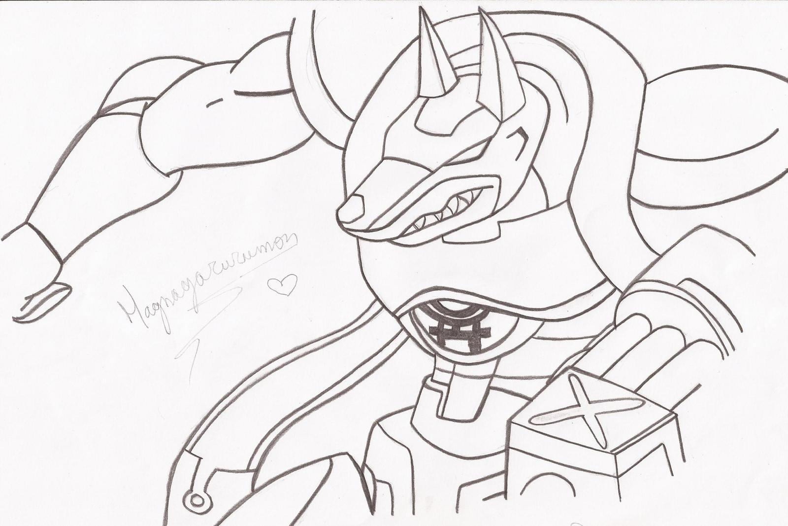 My Magnagarurumon Drawing Practice By Xxsteefylovexx On