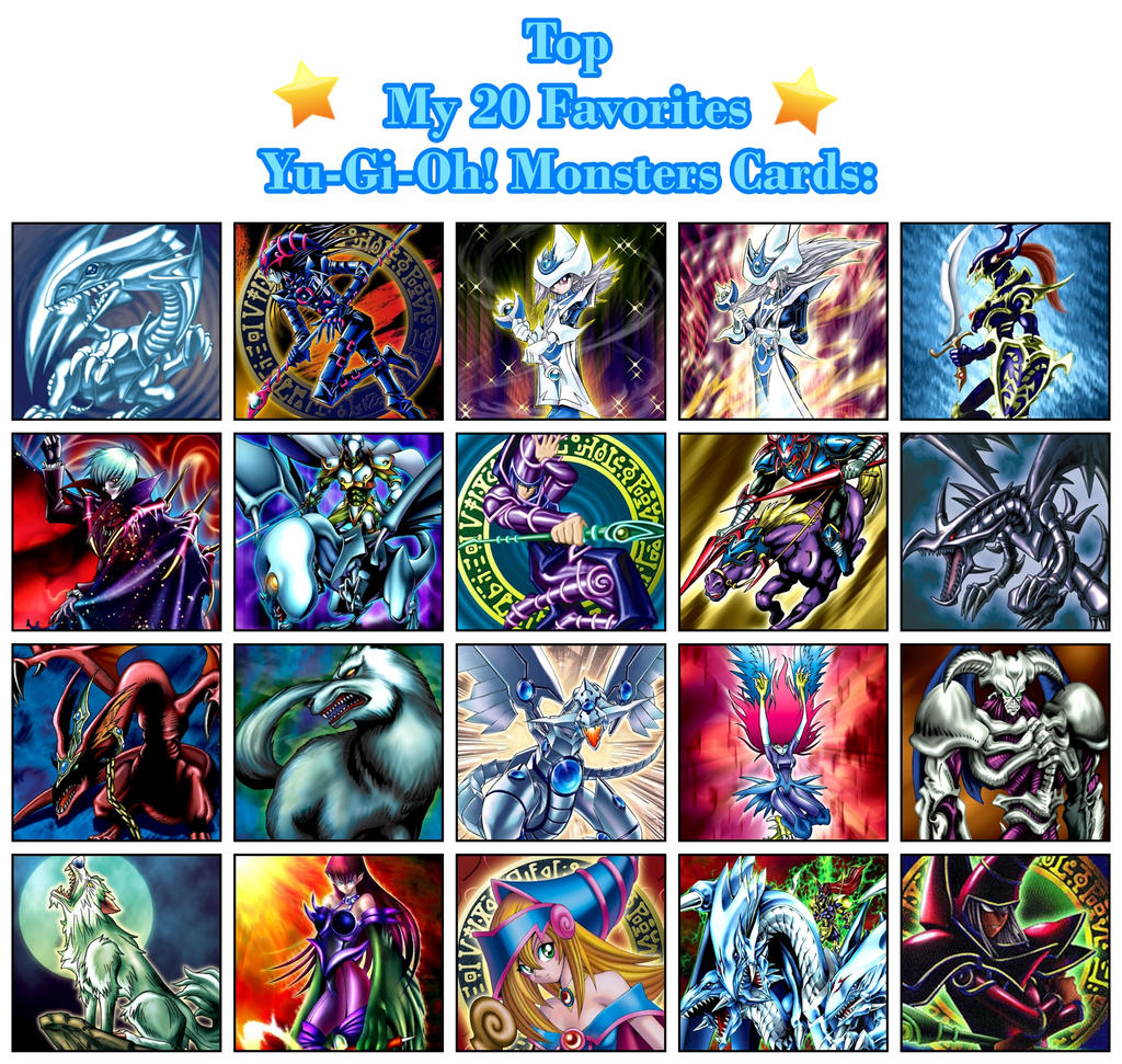 Top My 20 Favorites Yu-gi-oh! Monsters Cards By