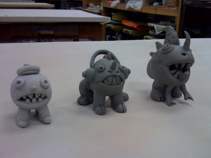 monster sculptures by ragweed