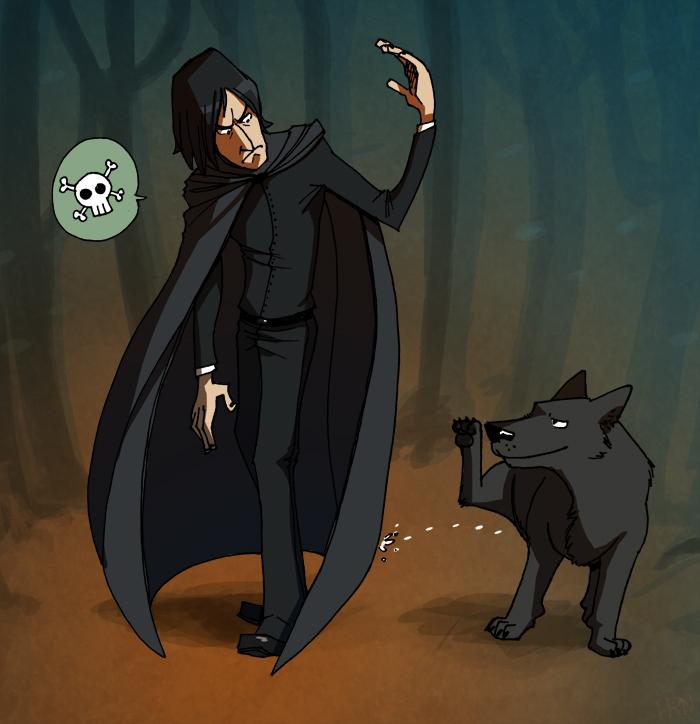 Commission: Snape n' Sirius by ragweed