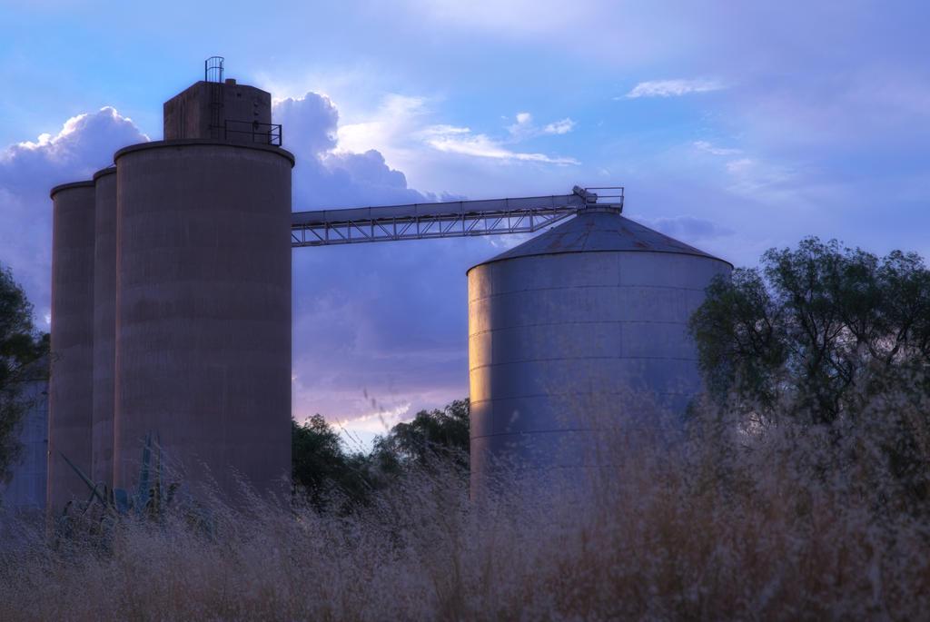 Grain Silos by rollinginsanity