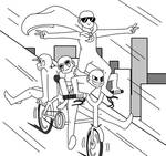 Draw The Squad Meme (Base) : Bicycle