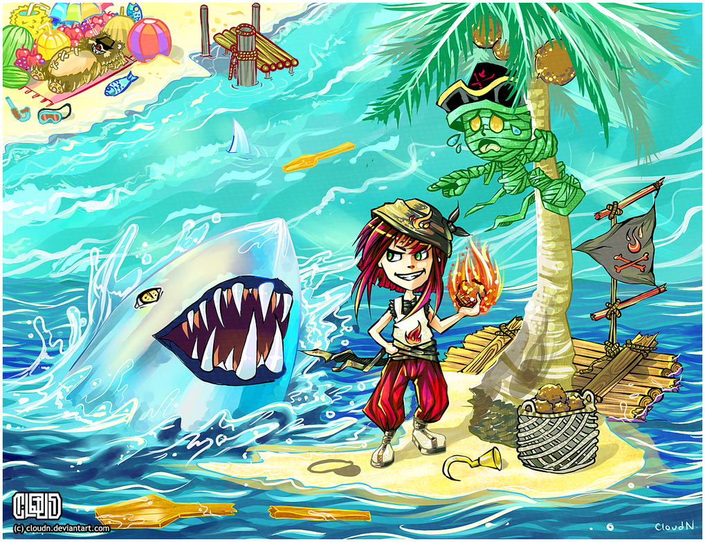 Annie wants a pet shark by CloudN