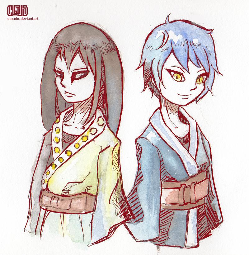 Orochimaru and Mitsuki by CloudN