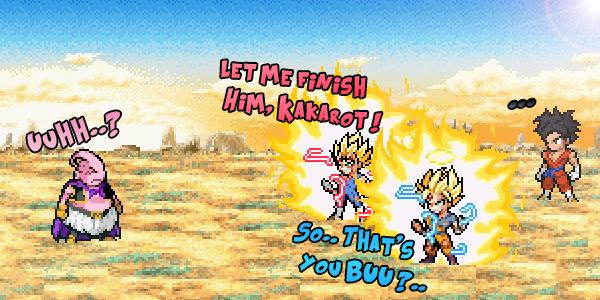 DBXV2 Simulation - Goku and Vegeta vs Majin Buu by MysTeRious0619
