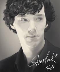 Thinking Sherlock by Momiji95