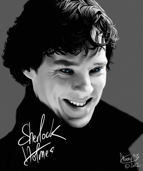 Sherlock's smile by Momiji95