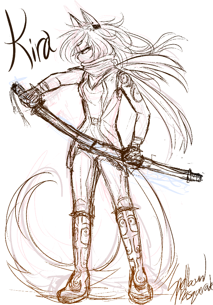 Sketch COM- Kira by SpellboundMasquerade on DeviantArt