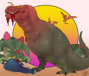 Retro Rex by BangBooDoragon
