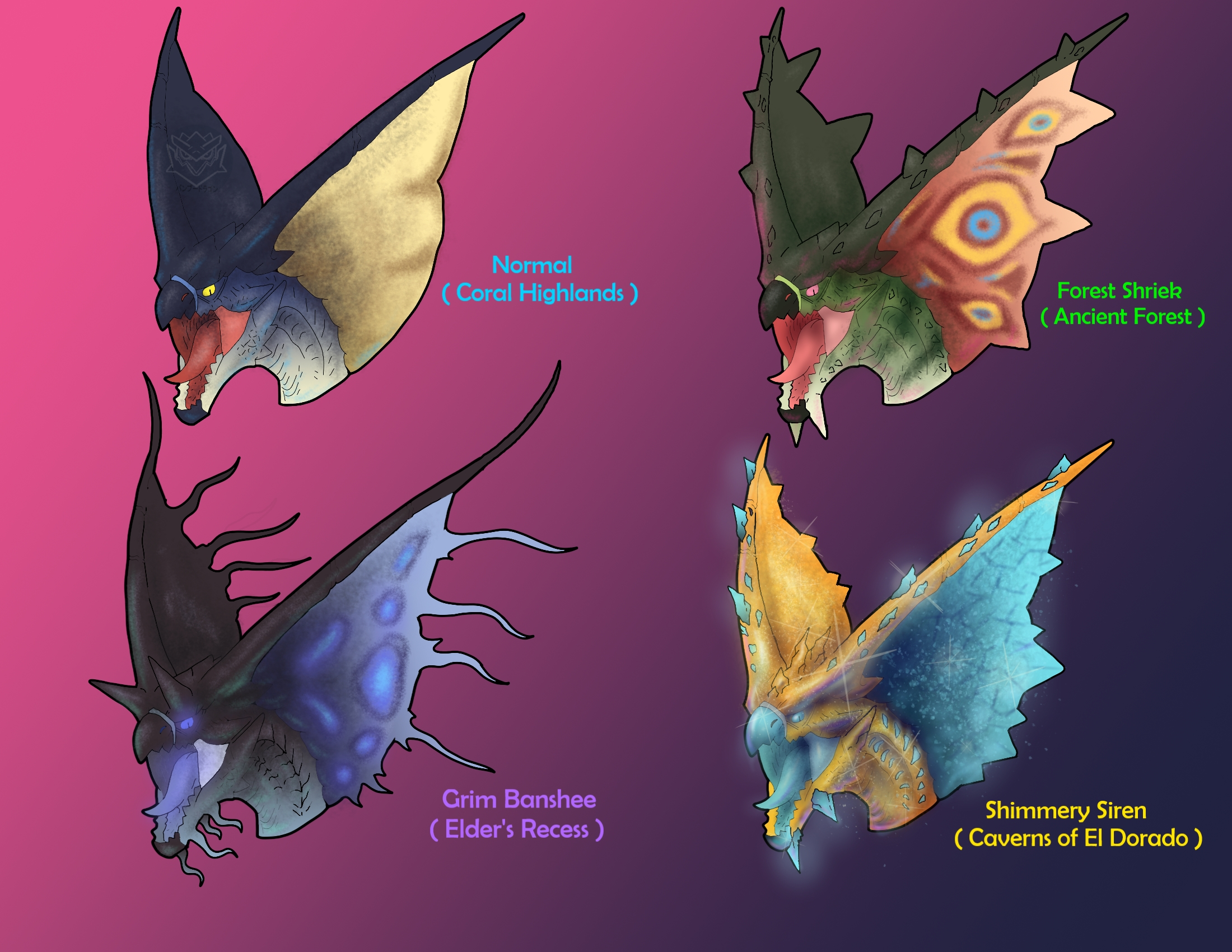 Legiana Variants By Bangboodoragon On Deviantart