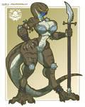 Monster Girl Challenge Day 11 - Lizardwoman