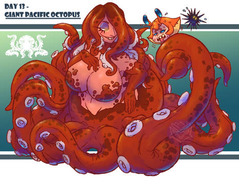 MerMay Day 13 - Giant Pacific Octopus