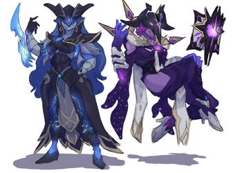 Abyss Herald and Lector Monstergirls