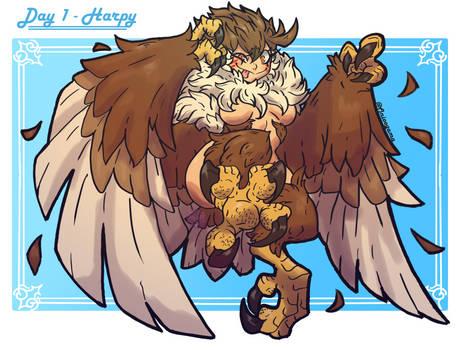 MonsterGirl Challenge Day 01 - Harpy