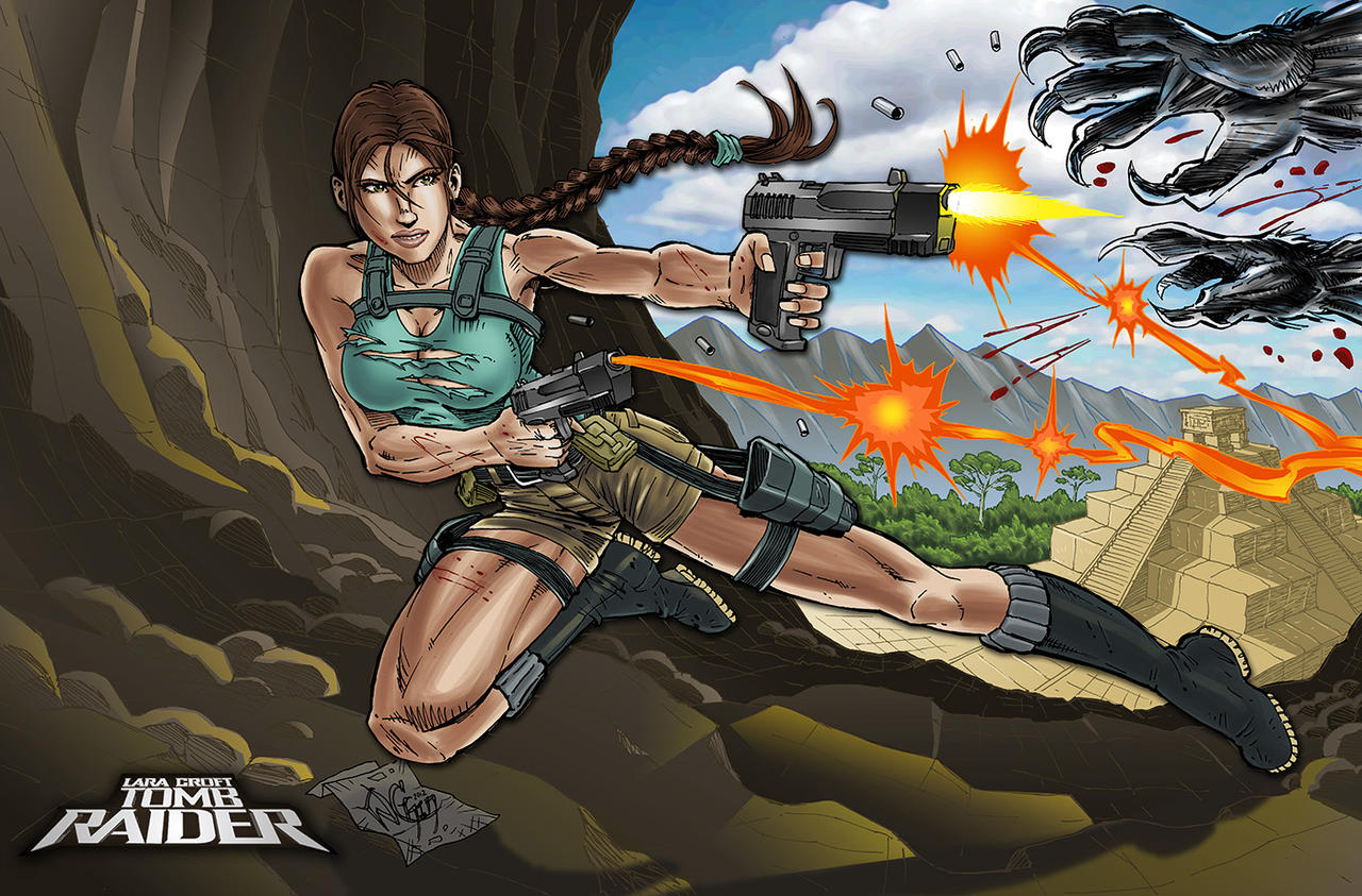Lara Croft Tomb Raider commission by wayner8088