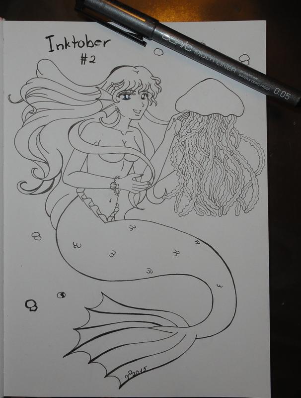 Inktober Mermaid by SakuraTaichi