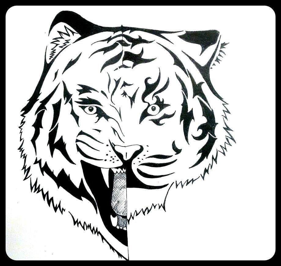 Tribal Tiger By Ruttan On Deviantart: Tiger Tribal Gift By Hidden-Wolf-Within On DeviantArt