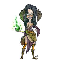 Tiefling Sorcerer Abraxia by GarlicHERO