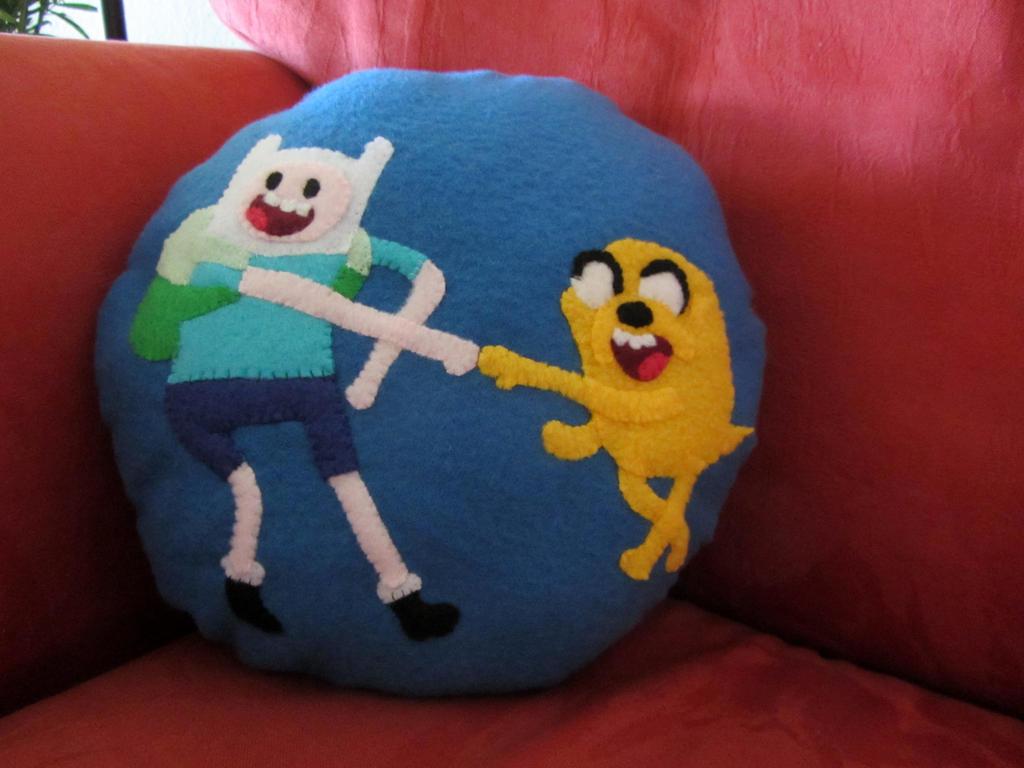Finn and Jack Pillow -- Stuffed by missmoon14