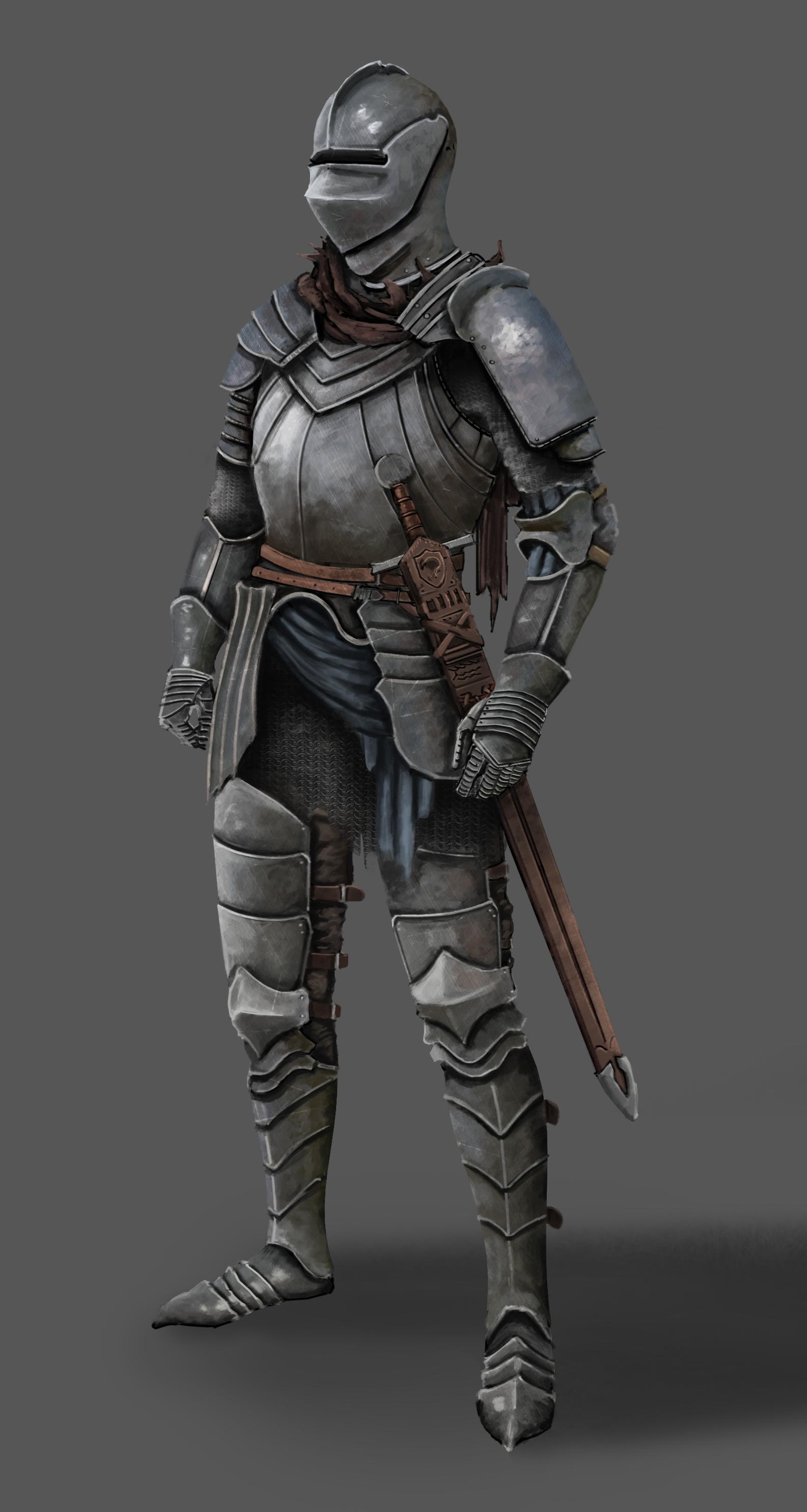 Knight armor design 1 by FutureKaze on DeviantArt