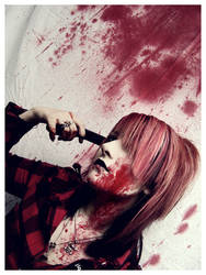 fun with fake blood. by x-Marionette-x