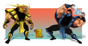Scorpion VS Sub-zero Cartoon