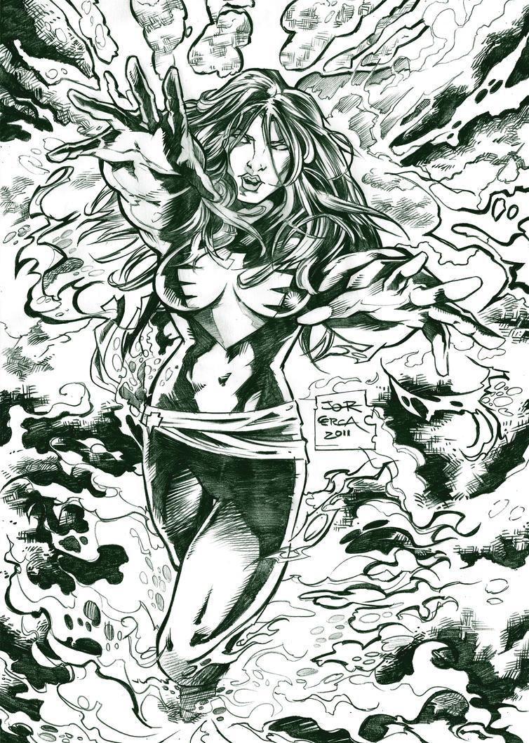 Jean Grey - X Men by jorcerca