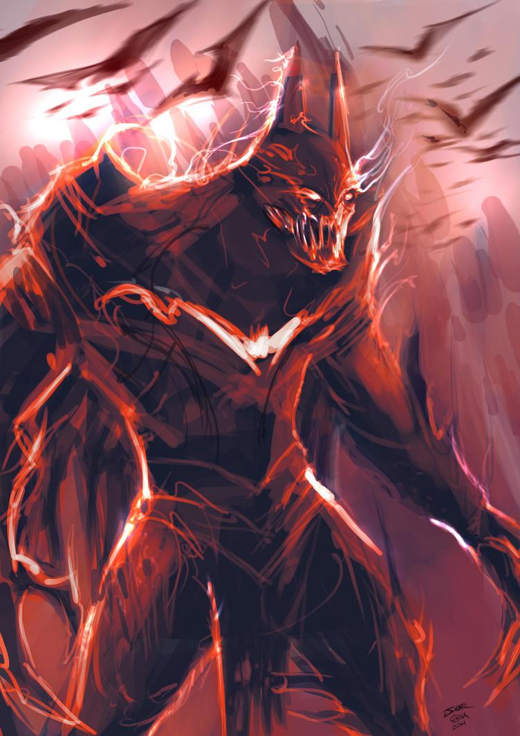 Monster batman 1 -  SpeedPaint by jorcerca