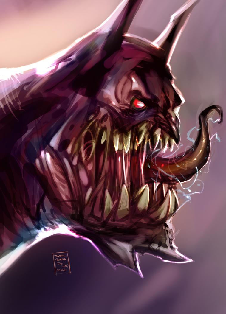 Monster batman 2 - SpeedPaint by jorcerca