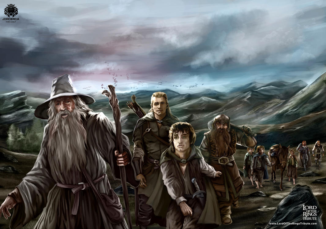 Lord Of The Rings Tribute by jorcerca
