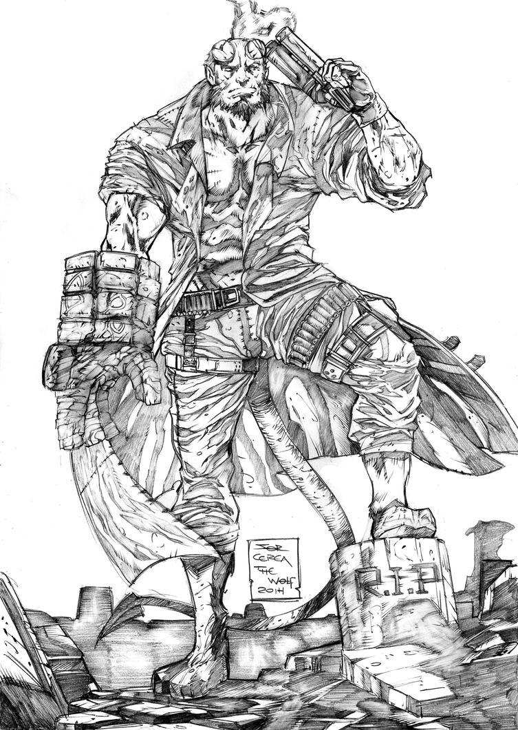 Hellboy by jorcerca