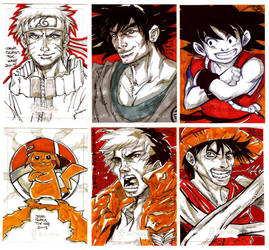 Sketch Cards Animes