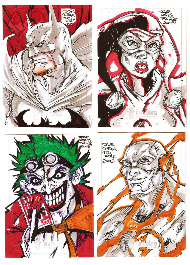 Sketch Cards DC by jorcerca