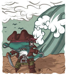 Hammer Head Pirate by incrediblejeremy