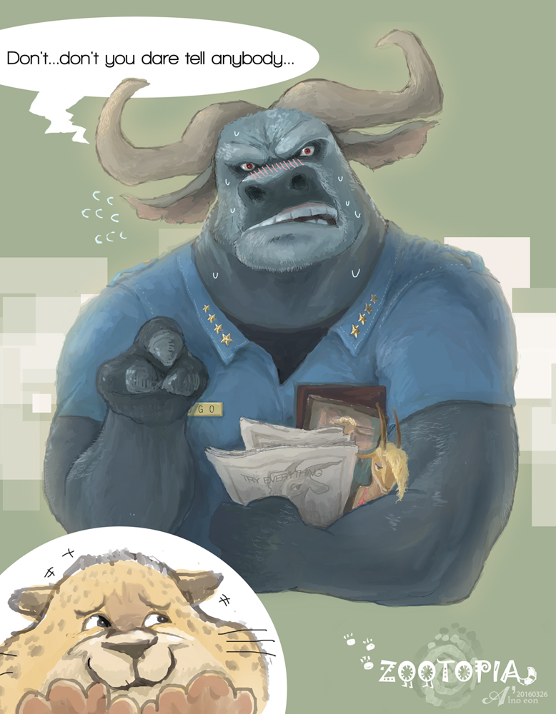 Chief Bogo by alnoeon
