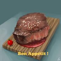 Steak by alnoeon