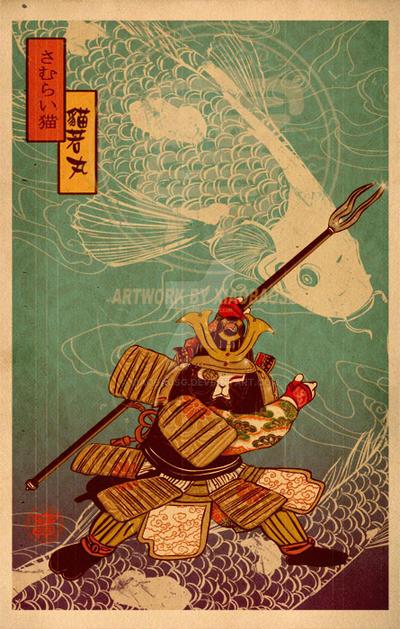 Shogun Cat by xiaobaosg