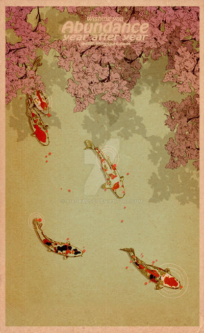 ukiyo E card by xiaobaosg