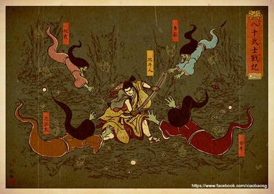 Cave Raider Print by xiaobaosg