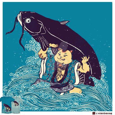 Cat Vs Cat(fish) by xiaobaosg