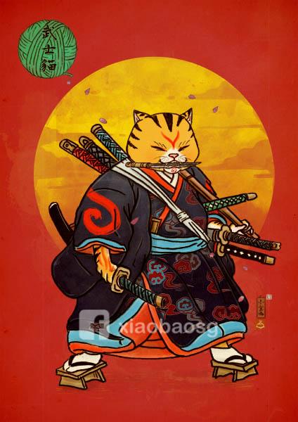 9 swords cat return by xiaobaosg