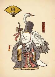 Fukurokuju cat